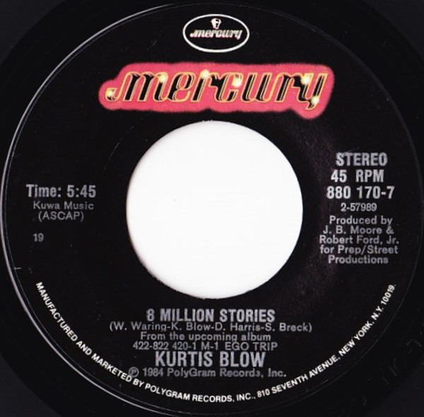 Kurtis Blow 8 Million Stories