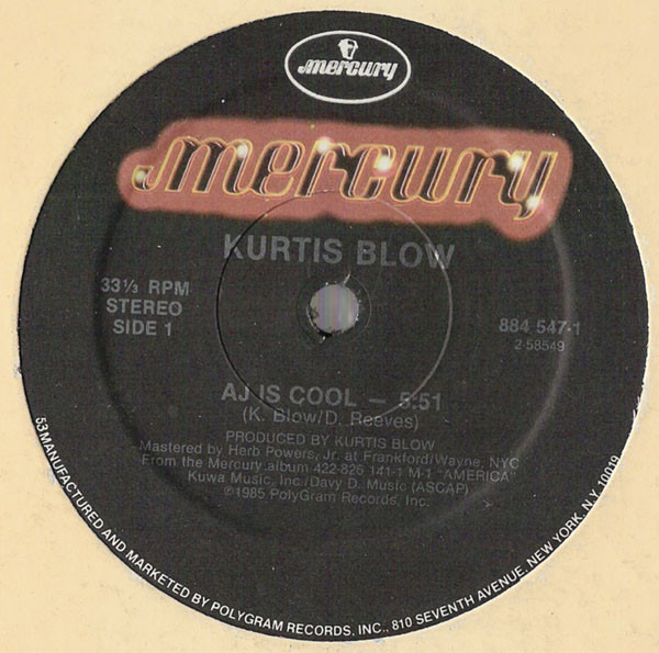 Kurtis Blow AJ Is Cool
