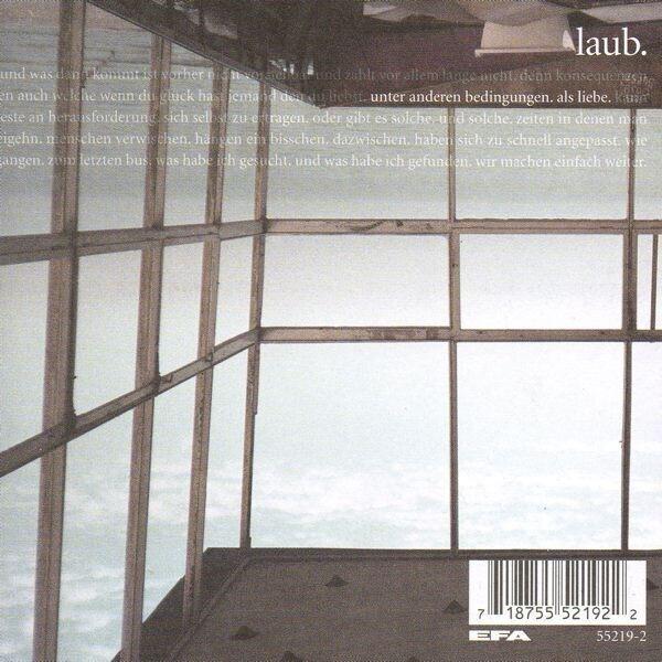 LAUB - Unter Anderen Bedingungen Als Liebe - CD