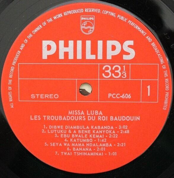 Les Troubadours Du Roi Baudouin Missa Luba (GATEFOLD)