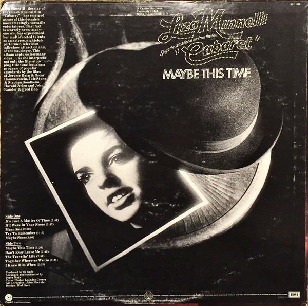 Sings the sensational hit from the film 'cabaret' maybe this time by Liza  Minnelli, LP with recordsale