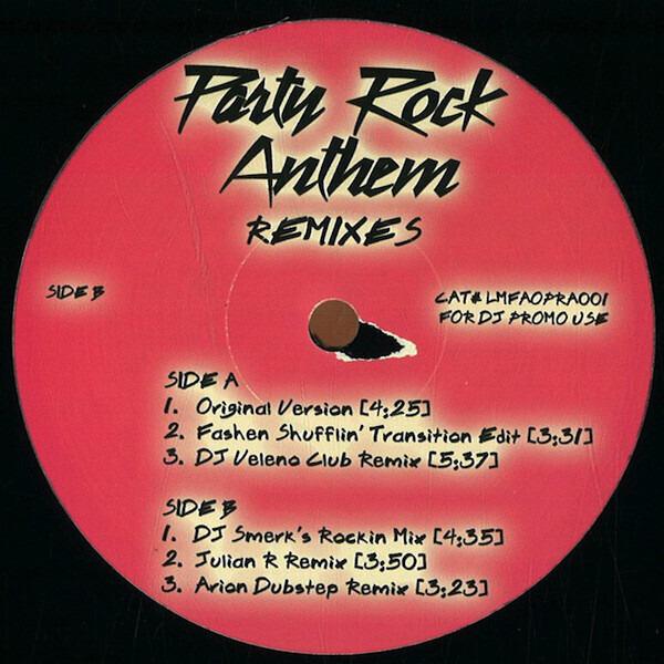 LMFAO - Party Rock Anthem (Remixes) - 12 inch x 1