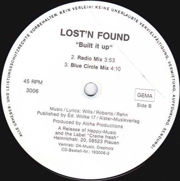 LOST 'N' FOUND - Built It Up - 12 inch x 1