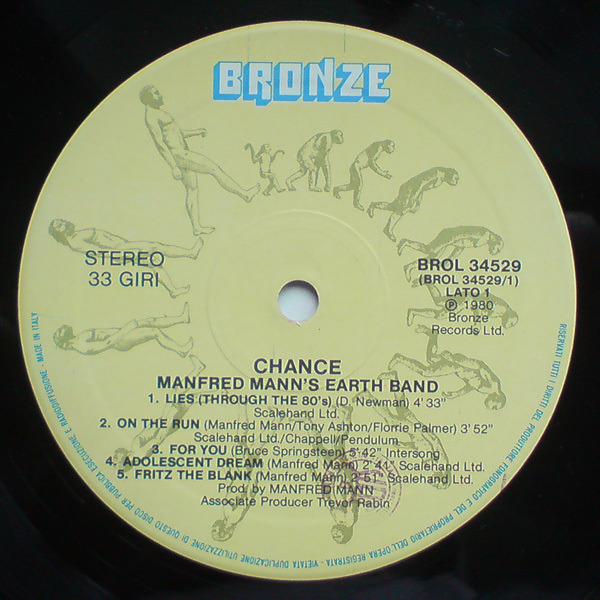 MANFRED MANN'S EARTH BAND - Chance - LP