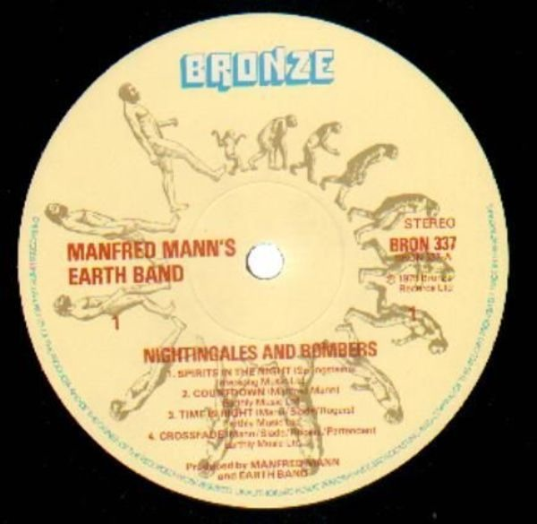 MANFRED MANN'S EARTH BAND - Nightingales & Bombers - LP