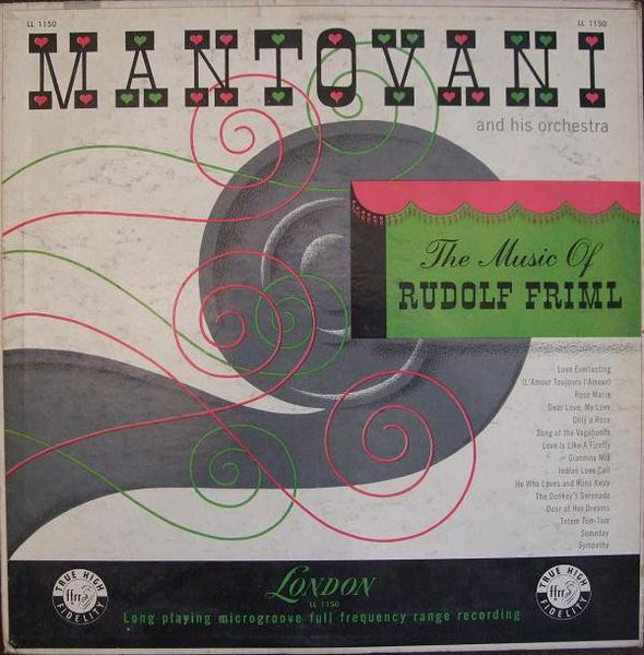 MANTOVANI AND HIS ORCHESTRA - The Music Of Rudolf Friml - 33T