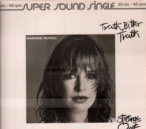 MARIANNE FAITHFULL - Truth, Bitter Truth / Strange One - Maxi x 1