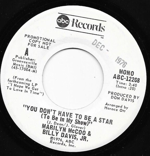 #<Artist:0x007f277bee1c28> - You Don't Have To Be A Star (To Be In My Show)