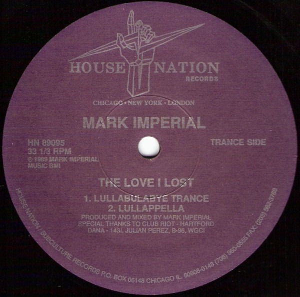 MARK IMPERIAL - The Love I Lost (Remix) - 12 inch x 1