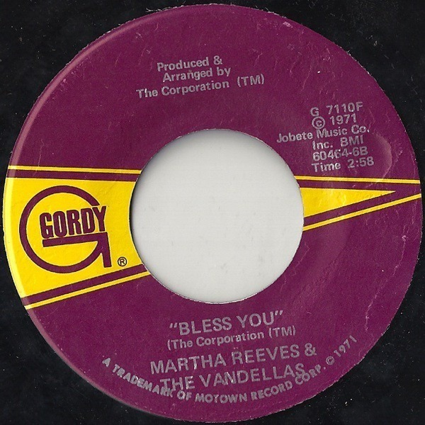 martha reeves & the vandellas bless you / hope i don't get my heart broke