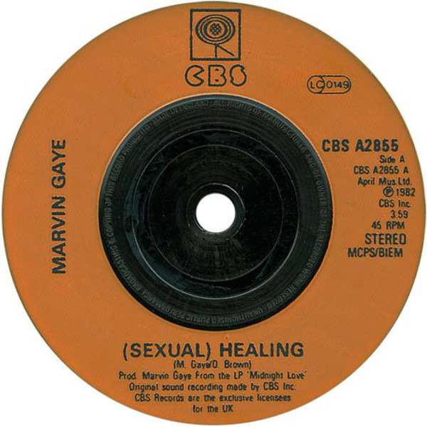 Marvin Gaye (Sexual) Healing (ORANGE INJECTION LABELS)
