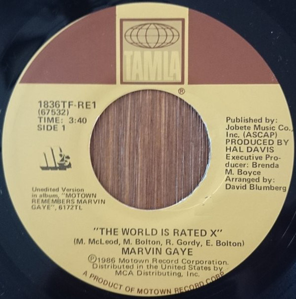 Marvin Gaye The World Is Rated X