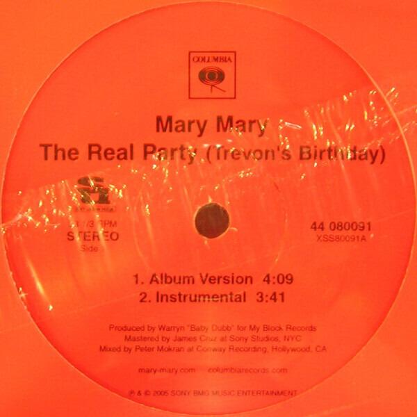 MARY MARY - The Real Party (Trevon's Birthday) (STILL SEALED) - Maxi x 1