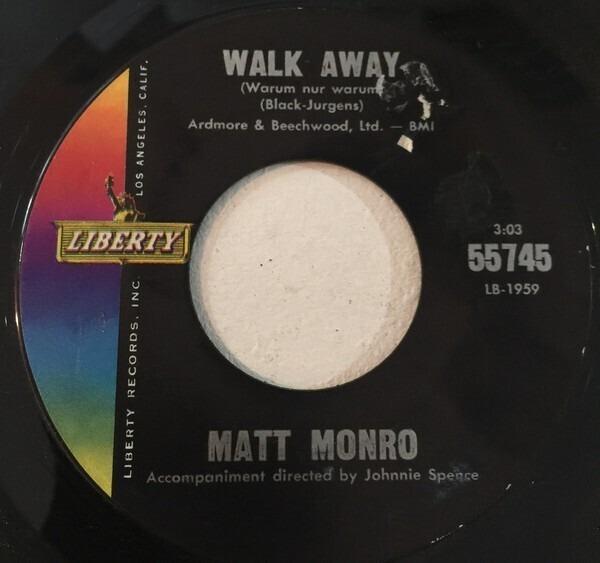 Matt monro walk away