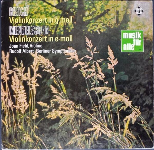 #<Artist:0x007ffa198b6fd0> - Violinkonzerte Von Bruch Und Mendelssohn
