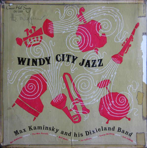 MAX KAMINSKY AND HIS DIXIELAND BAND - Windy City Jazz - 25 cm