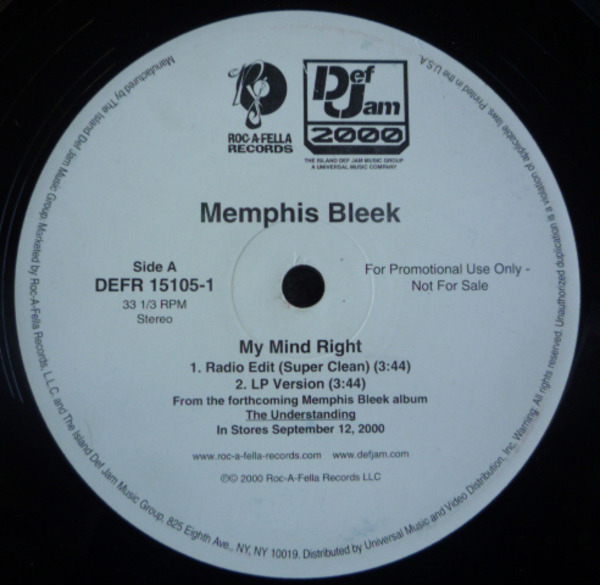 Memphis Bleek My Mind Right