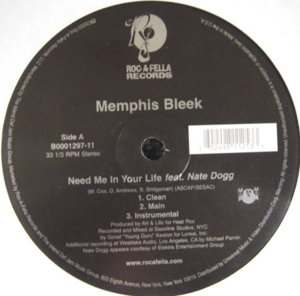 Memphis Bleek Need Me In Your Life / We Ballin' (STILL SEALED)