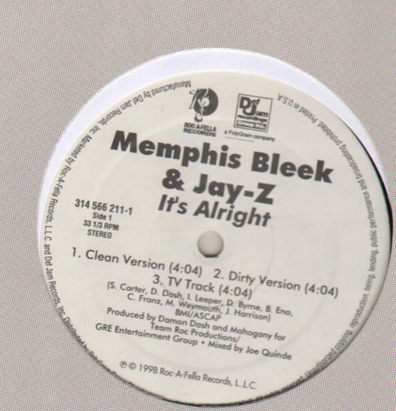Memphis Bleek And Jay-Z It's Alright (LABEL VARIATION)