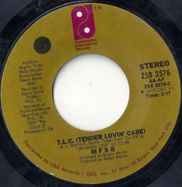 #<Artist:0x00007f4e0c89c1f8> - T.L.C. (Tender Lovin' Care) / Love Has No Time Or Place