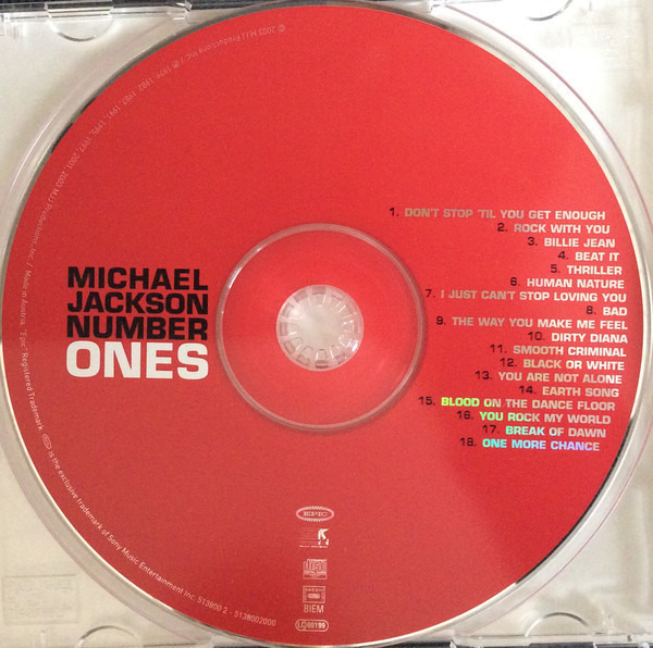 Number ones (off the wall-period cover) by Michael Jackson, CD with  recordsale