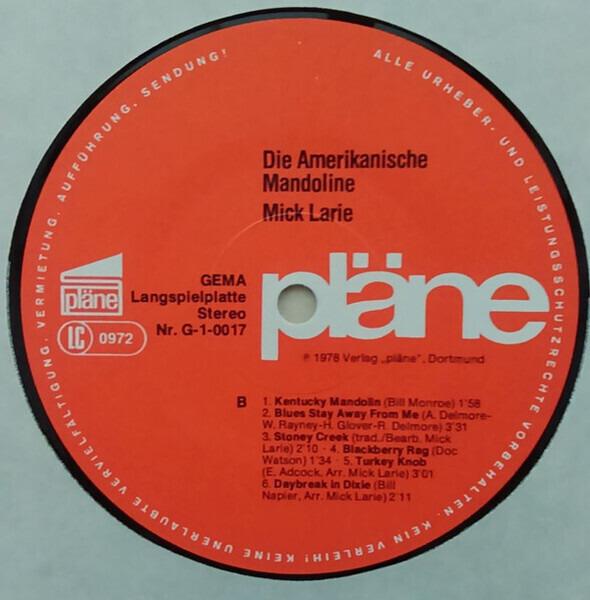 Mick Larie Die amerikanische Mandoline (+ BOOKLET INSERT)