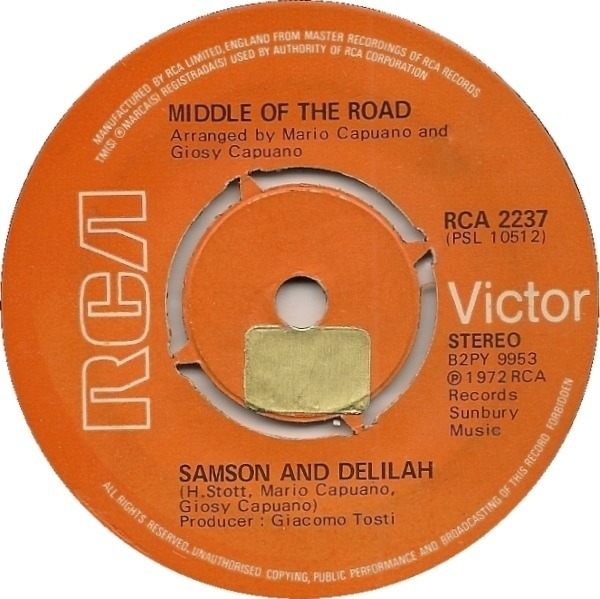 Middle Of The Road Samson And Delilah (PUSH-OUT CENTRE)