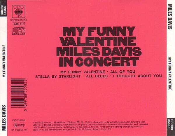 #<Artist:0x00007fcea6c1fa30> - My Funny Valentine - Miles Davis In Concert