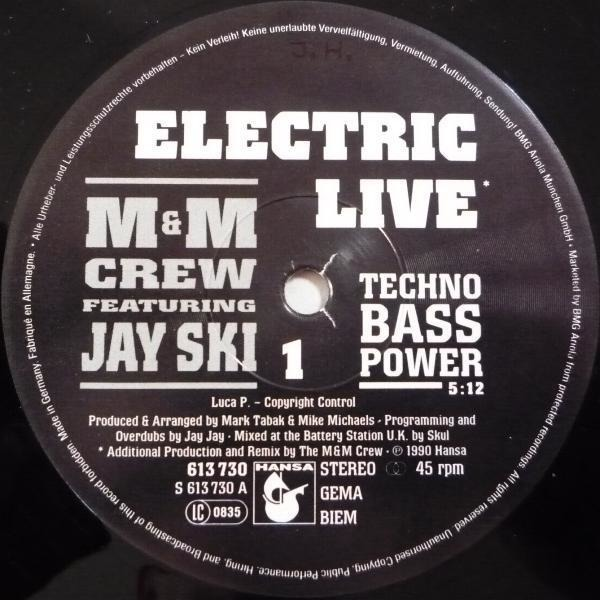 M&M CREW FEATURING JAY SKI - Electric Live / Can't Stop The Groove - Maxi x 1