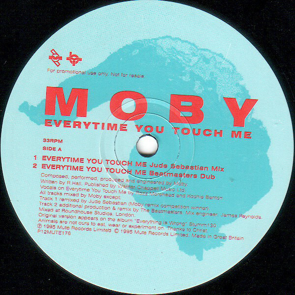 MOBY - Everytime You Touch Me - 12 inch x 1