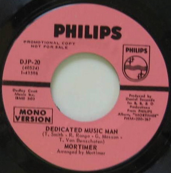 Mortimer Dedicated Music Man (PINK LABELS)