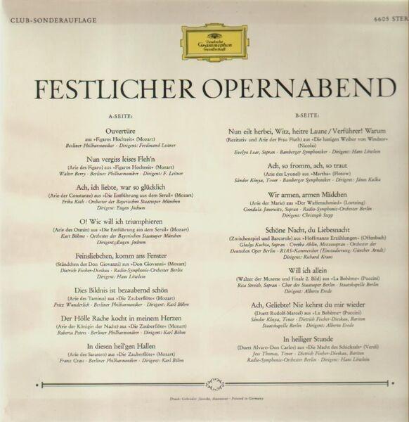Mozart / Nicolai / Flotow / Lortzing / Puccini Festlicher Opernabend (TULIP RIM)