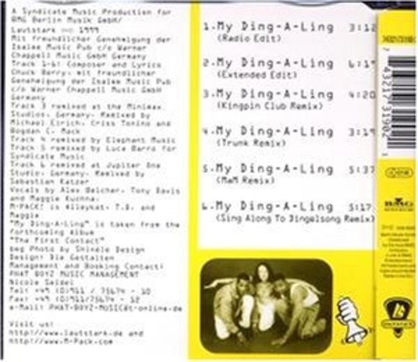 my ding a ling by m pack mcd with recordsale ref 3082481668