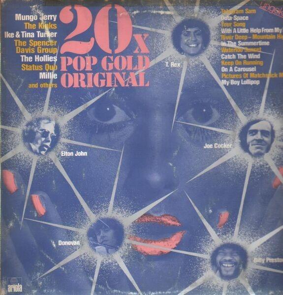 Mungo Jerry, The Kinks, Ike & Tina Turner,.. 20 x Popgold Original