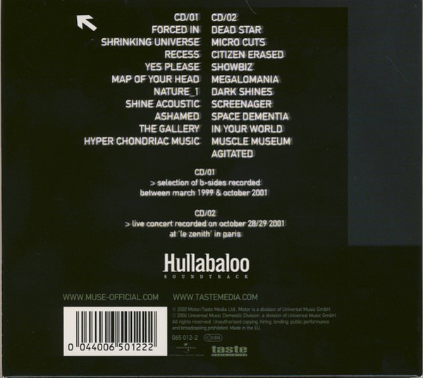 Hullabaloo by Muse, CD x 2 with recordsale