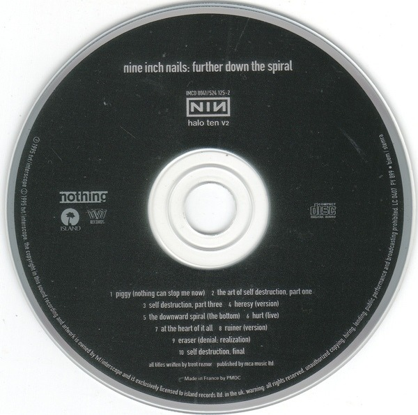 Further Down The Spiral By Nine Inch Nails Cd With Recordsale Ref