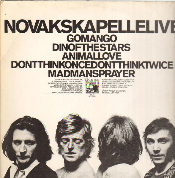 NOVAKS KAPELLE - Novakskapellelive (ORIGINAL AUSTRIAN, POKORA 6001) - 12 inch x 1