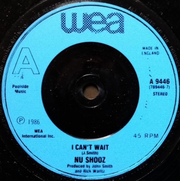 Nu Shooz - I Can't Wait (injection Label Blue)