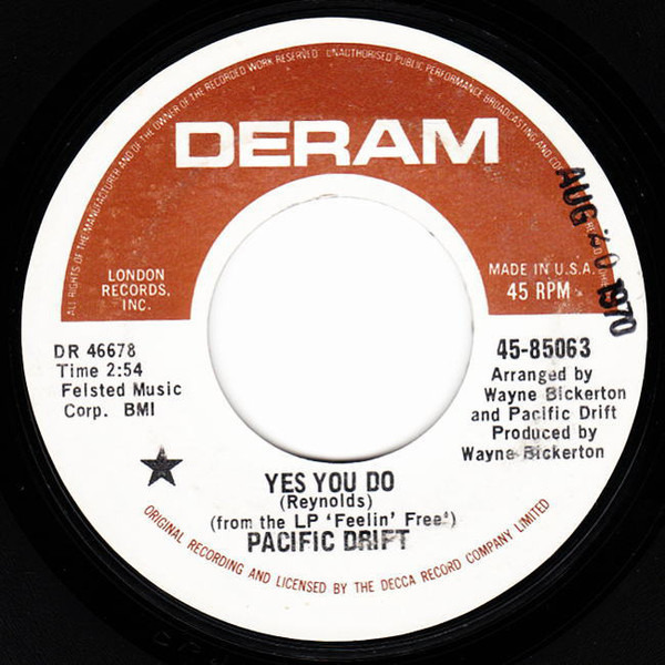 PACIFIC DRIFT - Yes You Do / Tomorrow Morning Brings - 7inch x 1
