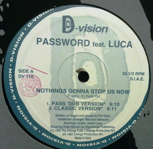 PASSWORD FEATURING JAMIE-LUCA - Nothings Gonna Stop Us Now - Maxi x 1