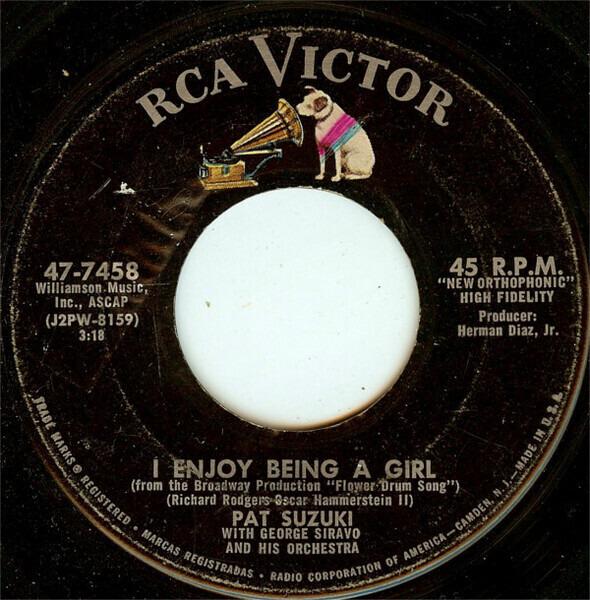 Pat Suzuki - I Enjoy Being A Girl / Love Eyes