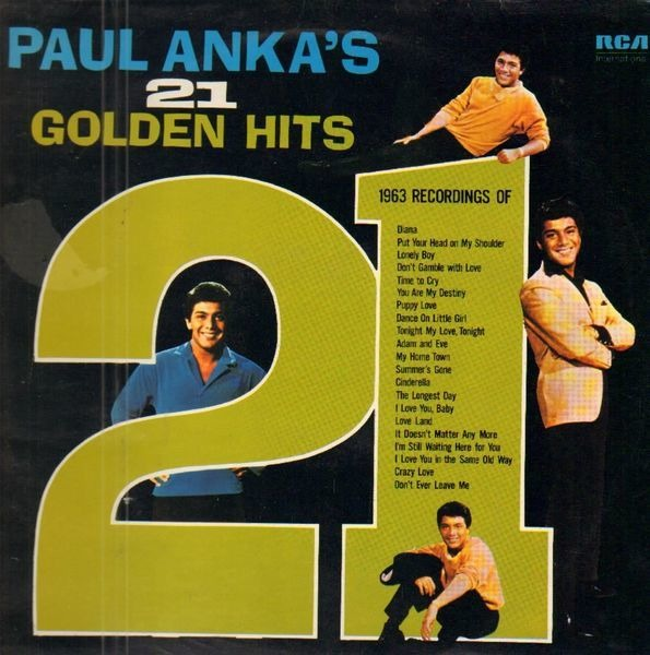 #<Artist:0x007f934d41ac48> - Paul Anka's 21 Golden Hits