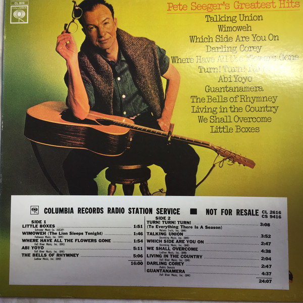 #<Artist:0x00007f38799e8a00> - Pete Seeger's Greatest Hits