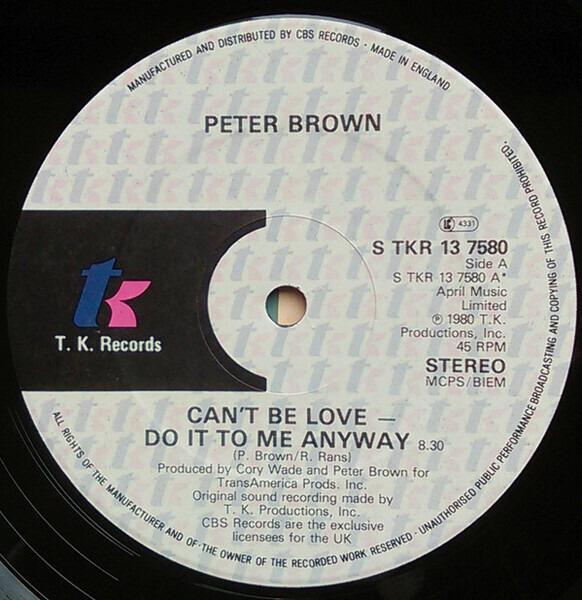 #<Artist:0x007f41e202c0f8> - Can't Be Love - Do It To Me Anyway