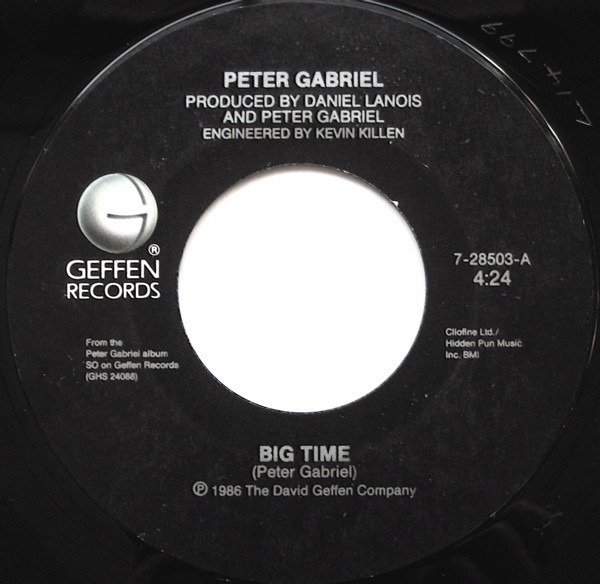 Peter Gabriel Big Time (NO PICTURE SLEEVE)