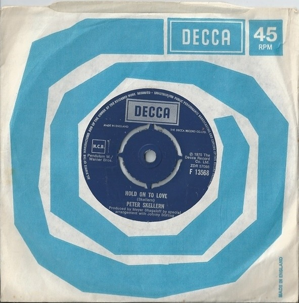 Peter Skellern Hold On To Love / Too Much, I'm In Love