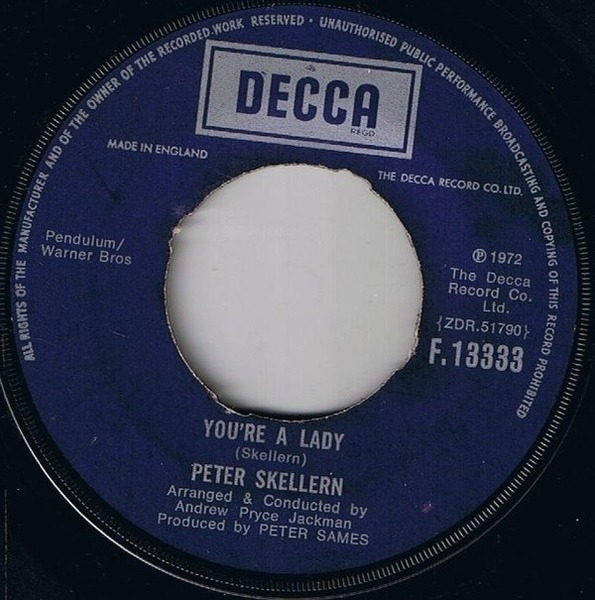 Peter Skellern You're A Lady / Manifesto