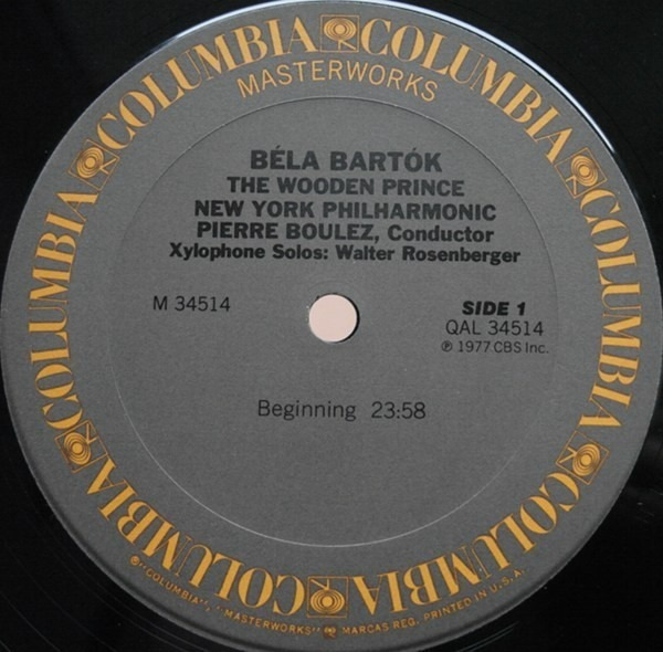 The Wooden Prince Complete Ballet By Pierre Boulez Conducts Béla Bartók The New York Lp With Recordsale