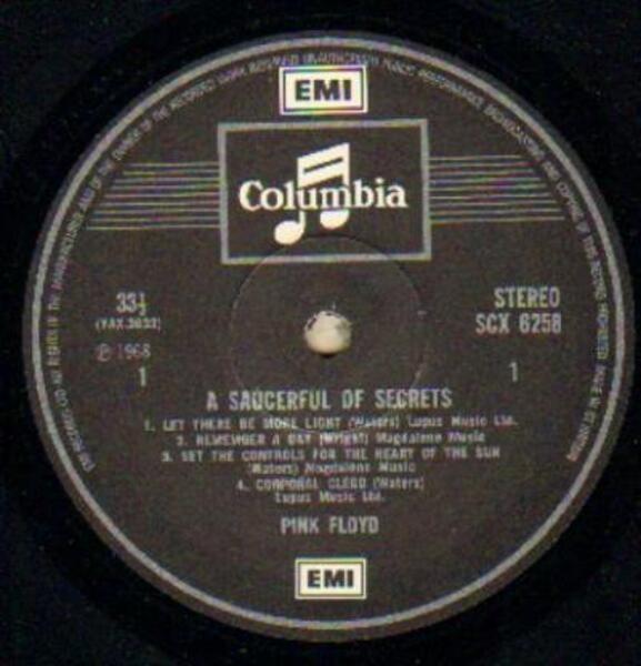 Pink Floyd A Saucerful Of Secrets (UK SCX 6258)