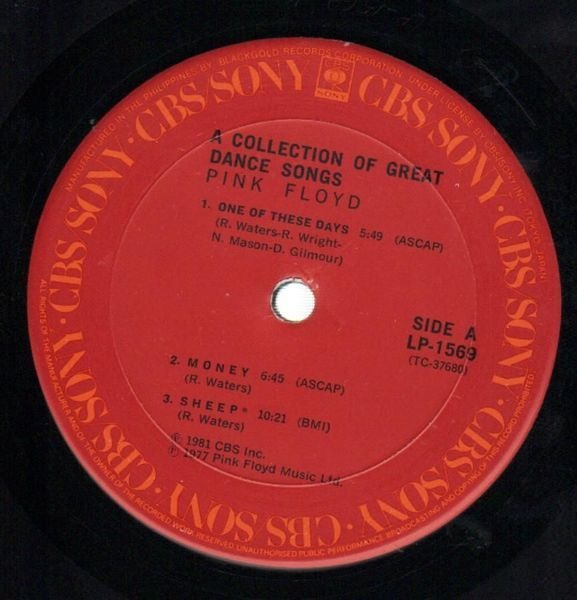 Pink Floyd A Collection Of Great Dance Songs (JAPAN)